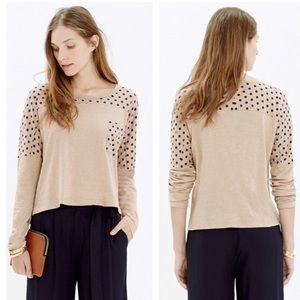 Madewell Effortless Tee In Dot